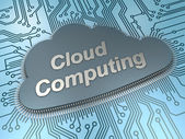 Cloud computing chip — Foto de Stock