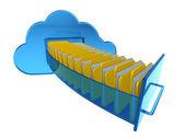Cloud computing dokument — Stockfoto