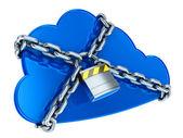 безопасный облачных вычислений — Стоковое фото