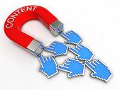 íman em forma de conteúdo — Foto Stock