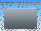 Wire mesh fence — Stockfoto