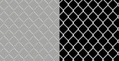 Shiny wire chain link fence — Foto de Stock