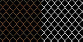 Rusty wire chain link fence — 图库照片