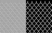 Shiny wire chain link fence — Stockfoto