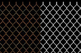 Rusty wire chain link fence — Stockfoto