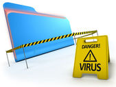 ANTI VIRUS concept — Stock Photo