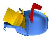Tam posta kutusu — Stok fotoğraf