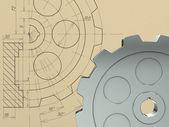 齿轮的概念 — 图库照片