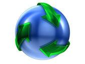 Recycle знак — Стоковое фото