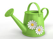 Green watering can — Stockfoto