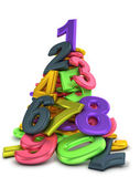 Heap of numbers — Stock Photo