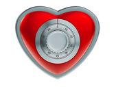 Heart security concept — Stock Photo