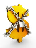 Secure of dollar — Stockfoto
