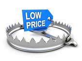 Perigo de baixo preço — Foto Stock