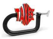 концепция уменьшение налогового — Стоковое фото