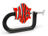 Concetto di riduzione di imposta — Foto Stock