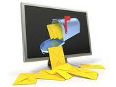 Concetto di posta elettronica — Foto Stock