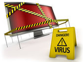 Anti-concetto di virus — Foto Stock
