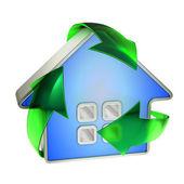 Eco recycle house — Stock Photo