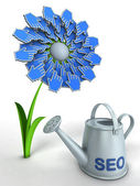 SEO flower — Stockfoto