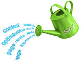 SEO watering can — 图库照片
