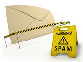 反垃圾邮件的概念 — 图库照片
