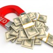 Stock Photo: SEO attracts money