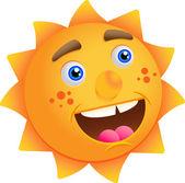 Funny cartoon sun — Stock Vector