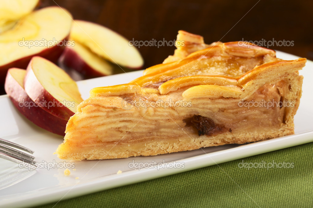 На слоеном тесте пирог с яблоками рецепт
