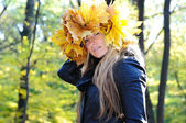 Beautiful autumn women — Stock Photo