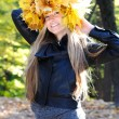 Beautiful autumn women — Stockfoto