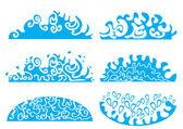 Set of waves. vector illustration — Vecteur