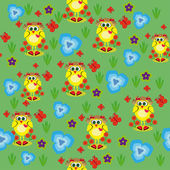Abstract children's wallpaper with chickens. — Stock Vector