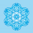 Abstract isolated vector snowflake - Imagens vectoriais em stock