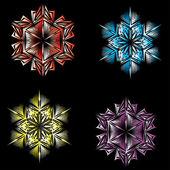 Vector snowflake — Cтоковый вектор