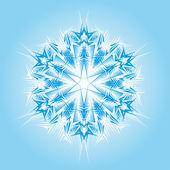 śnieżynka streszczenie wektor na białym tle — Wektor stockowy