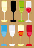 Set of the isolated glasses. — Stock Vector