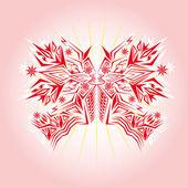 孤立的背景上的蝴蝶 — 图库矢量图片