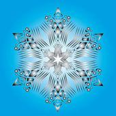 Abstracte geïsoleerde vector sneeuwvlok — Stockvector