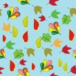 Abstract pattern with autumn Leaves — Stockvectorbeeld