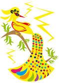 Pássaro de ouro sobre fundo isolado — Vetorial Stock