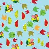 Abstrakt mönster med hösten lämnar — Stockvektor