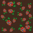 Abstract pattern with flowers — Vektorgrafik
