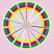 Circle from color pencils — Stock Vector