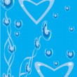 Abstract blue background with heart - Stock Vector