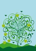árvore abstrata isolado do vetor — Vetorial Stock