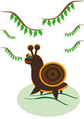Small ridiculous snail — Stock Vector