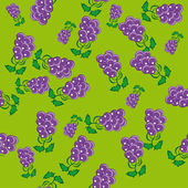 Patrón abstracto con uvas — Vector de stock