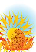 抽象的复活节背景 — 图库矢量图片