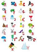 Illustrationen med animerade alfabetet — Stockvektor